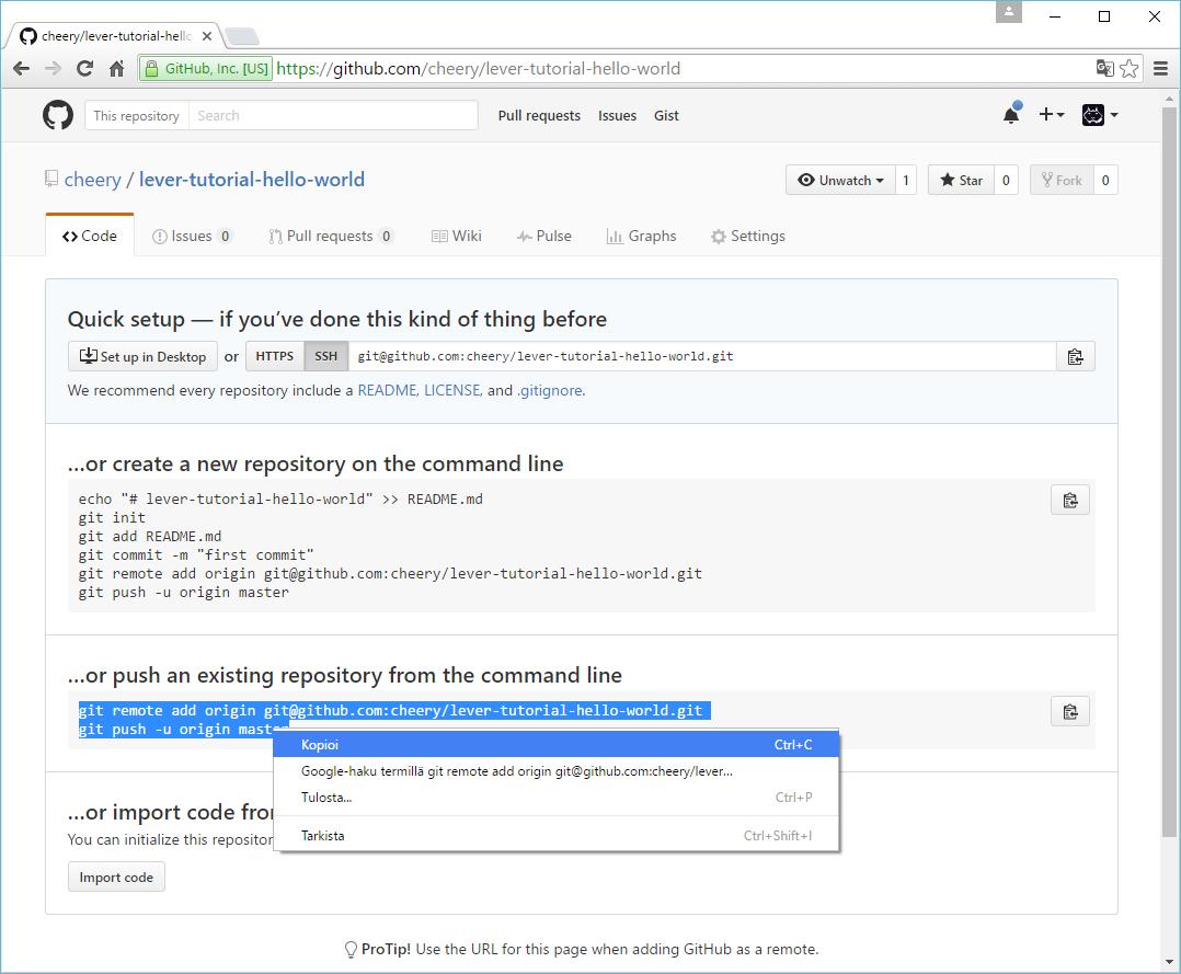 Lever - Leveraging Git&Github